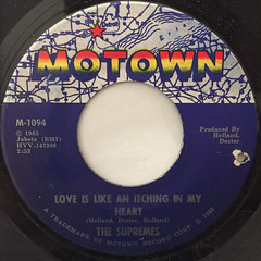 THE SUPREMES:LOVE IS LIKE AN ITCHING IN MY HEART(LABEL SIDE-A)