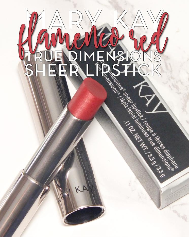 mary kay true dimensions sheer lipstick flamenco red (6)