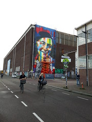 Anna Frank painting in Amsterdam Noord