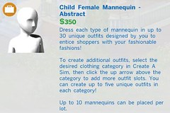 Child Female Mannequin Abstract