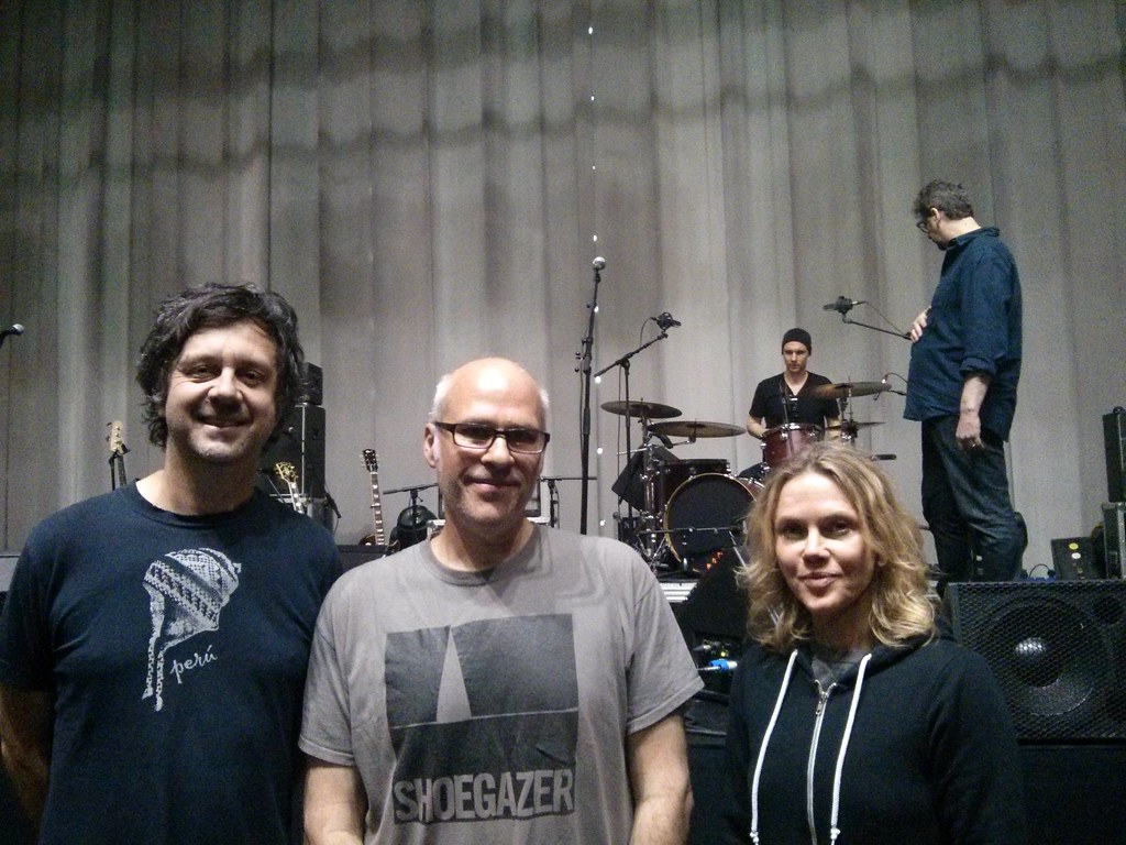 Sean, me  and Britta (and Lee at the drums)