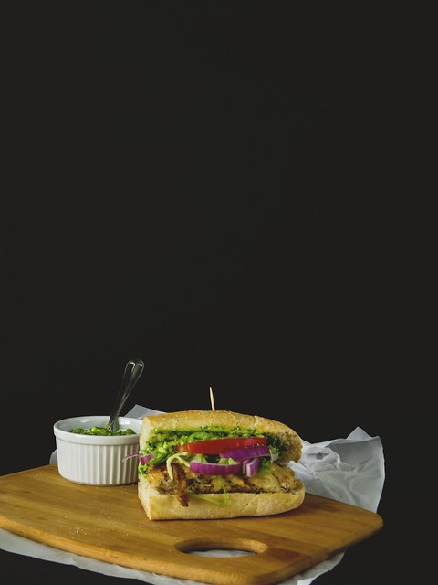 The Santa Fe Chicken Sandwich with Cilantro Feta Pesto Butter
