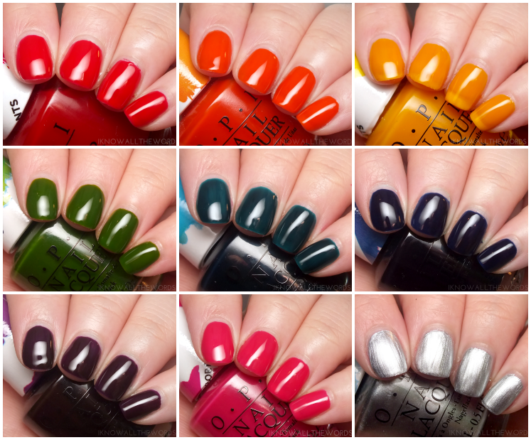opi colour paints Collage