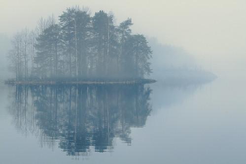 morning mist lake water fog finland kuopio kallavesi saaristokaupunki