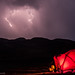Camping in the himalayas: Facing the Storm by Raj Dasgupta