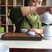 Mrs Yao preparing the tea