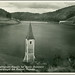 5054 R Turm der Dreifaltigkeits - Kapelle bei Ruine Zornstein unter dem Wasserspiegel des Frainer Stausees Verlag Franz Pechinger Talperre Frain a. D. Thaya N. D. Year 1937.  7468