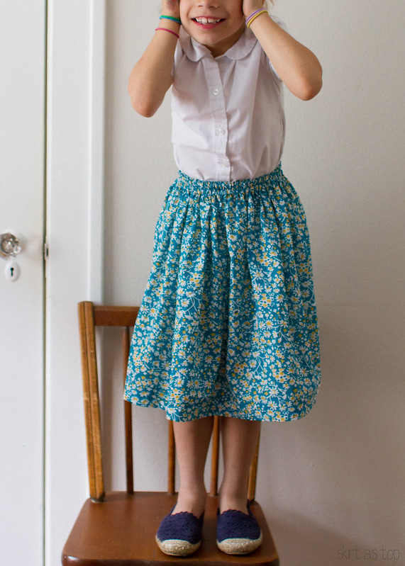 simple floral skirt