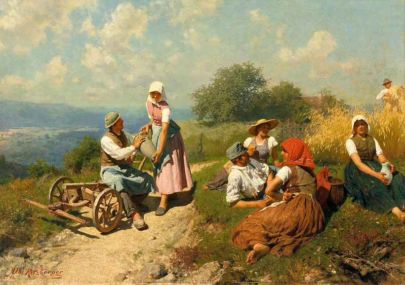 Albert Ritzberger - Prachtvolle Sommerlandschaft im Alpenvorland (1888)