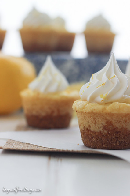 These Lemon Cream Pie Cookie Cups are the perfect summer treat! Filled with a refreshing lemon mousse and topped with whipped cream