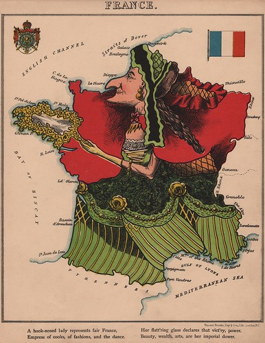 Caricature map of France by Aleph