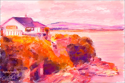 Image of a house on a bluff in St. Andrews, Scotland