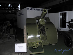 100 mm Skoda Howitzer exhibited in the National Museum of Romanian Aviation in Bucharest