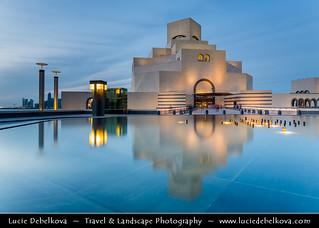 Qatar - Doha - Museum of Islamic Arts - MIA - Dusk - Twilight - Blue Hour - Night