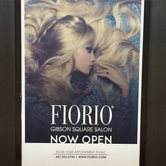 Great ad for @FiorioSalon in the #TTC today; they're open at #GibsonSquare in #NorthYork! #LifeStoreys