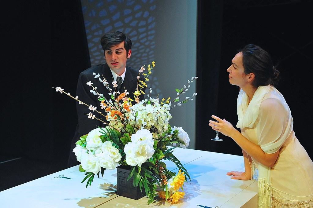 <p>Matthew Payne as Franz and Ariana Almajan as Grete<br /> <br /> Photo by Valentine Radev</p>