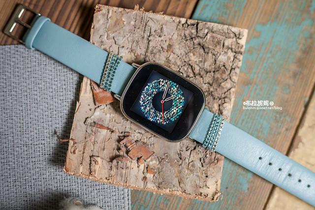 【3C分享】是手錶、是精品,更是我的生活管家!ASUS ZenWatch 2 (小錶) 快充進化版 -真皮晶  鑽藍(施華洛世奇水晶)