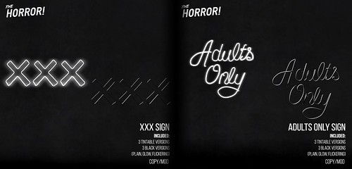The Horror!~ XXX & Adults Only Signs @ Suicide Dollz