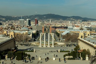 Towards Placa d'Espana in Barcelona