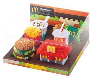 「好想要 漢堡積木啊!」香港《麥當勞》 X nanoblock 迷你積木