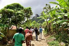 Walking up La Citadelle, Haiti