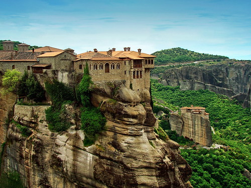 nature rock architecture landscape ancient sony greece monastery meteora amazingwork christiangroup flickrbronzetrophygroup rivanova риванова