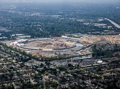 #Aerial of new #Apple HQ under #construction
