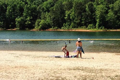 lake holiday beach swimming