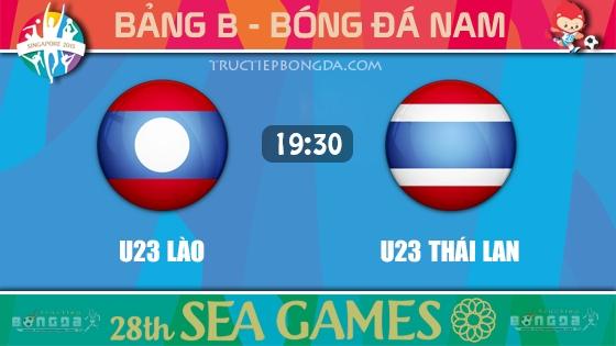 U23 Lào vs U23 Thái Lan