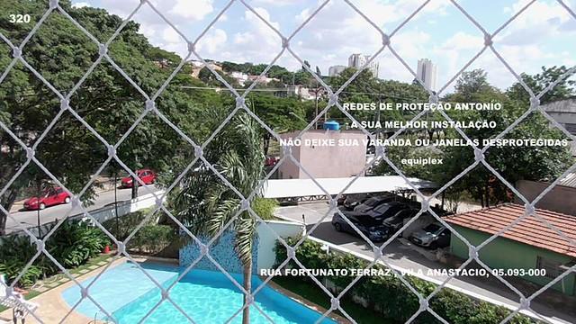 Rua Fortunato Ferraz, Redes de Proteção na Vila Anastacio, cep 05.093-000.janelas, varandas, gradil, pombos.