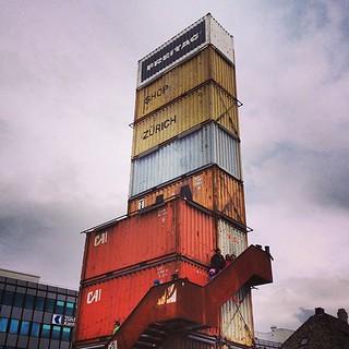 Shipping container skyscraper.