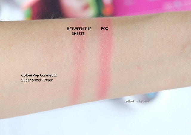 ColourPop Super Shock Cheek Between the Sheets Fox swatch