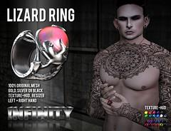 !NFINITY Lizard Ring  @  Men Only Monthly September