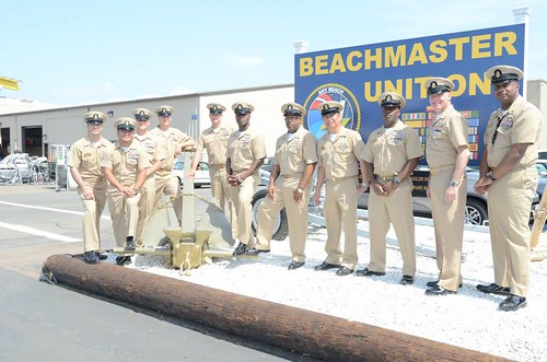 CORONADO, Calif. - Chief petty officers (CPO) assigned to Beachmaster Unit One (BMU-1) put on their service khaki to celebrate the 122nd birthday of the CPO rank.