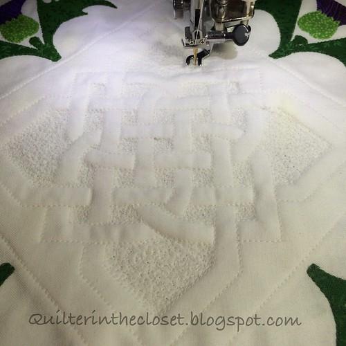 Celtic knot in progress