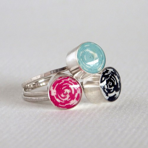 Blossom and Shine Paper Bead Rings