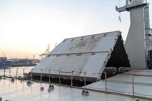 Cargo deck opening