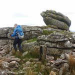 Logan Stone on Lynch Tor
