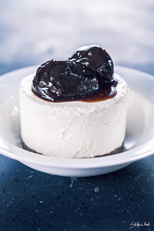Cheesecake Al Mascarpone Con Fichi Caramellati Lana E Biscotti
