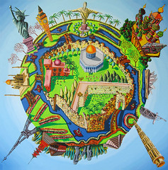 Jerusalem Center Of The World Map.Map Of Jerusalem As The Center Of The World Most Famous Si Flickr