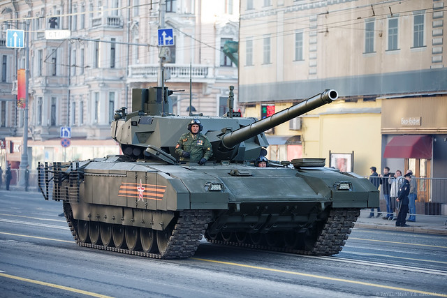 T-14 Armata - Rehearsal of Victory parade on Red square in Moscow