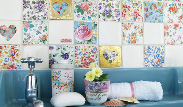 Patchwork tiles, handmade in tha UK by Welbeck Tiles | Emma Lamb