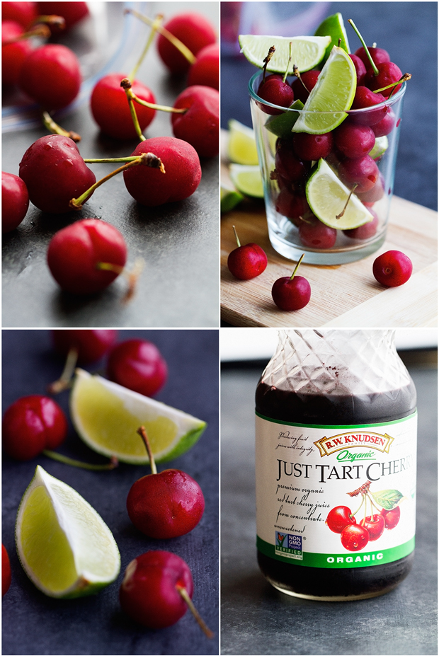 Cherry Limeade - Simple, bright, and refreshing. Perfect for summer days and takes just 5 minute to make! #cherrylimeade #limeade #lemonade   Littlespicejar.com