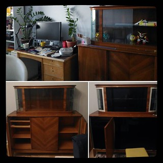 DIY furniture update, part 2 - old sideboard, before and process. #kuzzzmahomesweethome