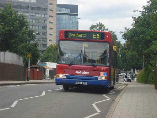 Metroline DP27 on Route E8, Brentford Station, 19/06/10