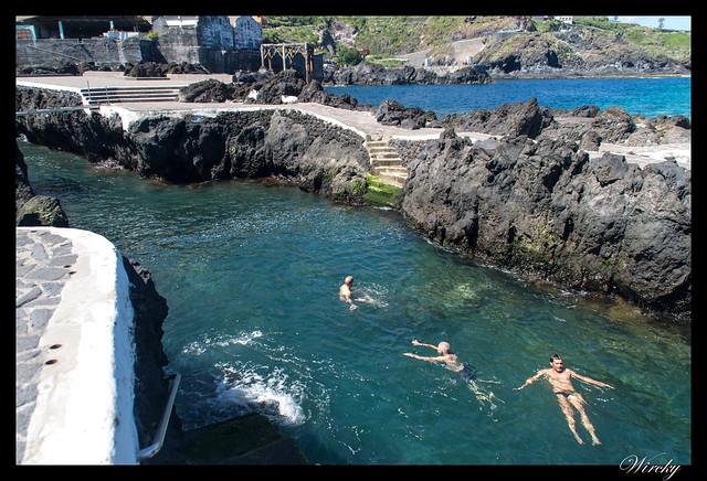 Garachico roque piscinas naturales caleton - Baño en las piscinas naturales El Caletón