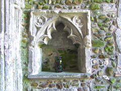 14th Century piscina reset in the porch