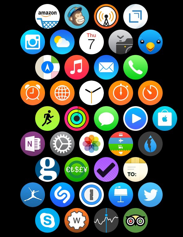 Apple Watch Home screen apps