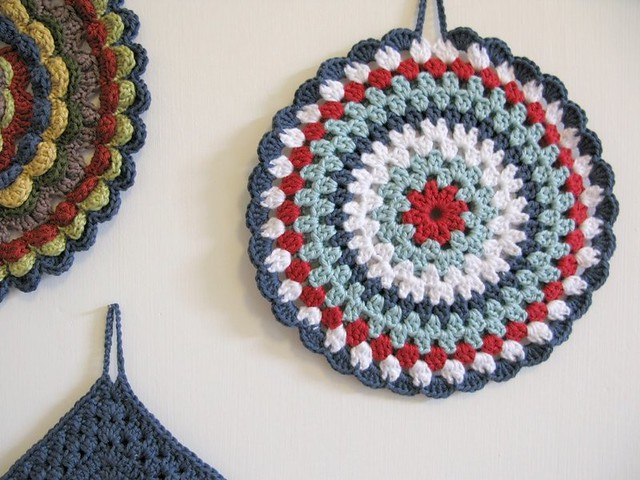 Nancy crochet potholder by Emma Lamb