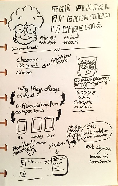 Sketchnote of the talk The Plural of Chromium is Chromia